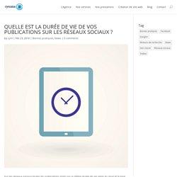 QUELLE EST LA DURÉE DE VIE DE VOS PUBLICATIONS SUR LES RÉSEAUX SOCIAUX ? - cycoma