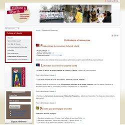Culture et Liberté - Publications et Ressources