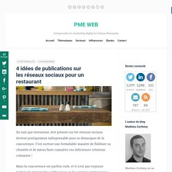 4 idées de publications sur les réseaux sociaux pour un restaurant
