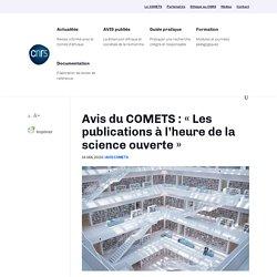 Les publications à l'heure de la science ouverte (COMETS)