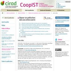 Liens utiles / Déposer ses publications dans une archive ouverte / Publier et diffuser / Aide à la publication - Coopérer en information scientifique et technique - Cirad
