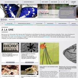 Bienvenue sur le site des Publications scientifiques du Muséum national d'Histoire naturelle, Paris