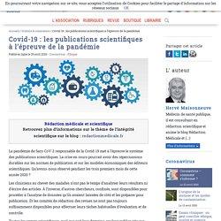 Covid-19: les publications scientifiques à l'épreuve de la pandémie - Afis Science - Association française pour l'information scientifique