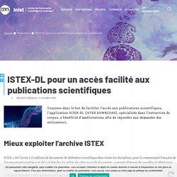ISTEX-DL pour le moissonage de données