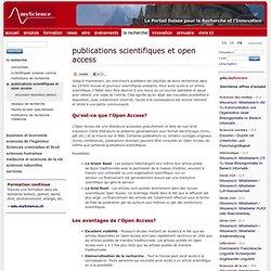 publications scientifiques et open access - myScience / la recherche