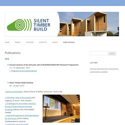 SILENT-TIMBER-BUILD / Publications