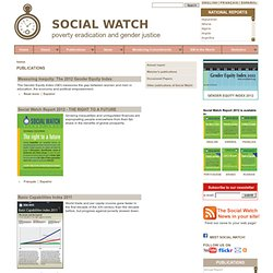 Publications | Social Watch