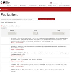 Publications – Centre de sociologie de l'innovation