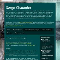 Serge Chaumier: Autres publications en sociologie