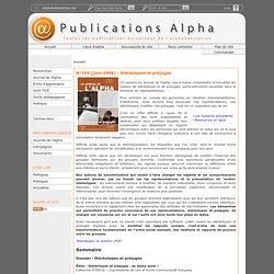 Publications Alpha - N°169 (juin 2009) : Stéréotypes et préjugés