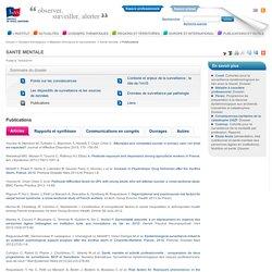 Publications / Santé mentale / Maladies chroniques et traumatismes