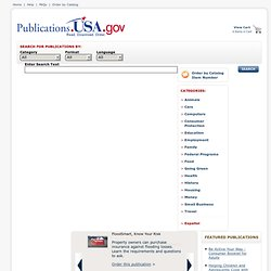 Federal Citizen Information Center: Home Page