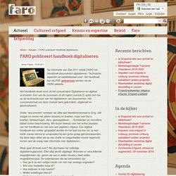 FARO publiceert handboek digitaliseren