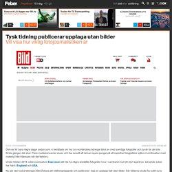 Tysk tidning publicerar upplaga utan bilder. Vill visa hur viktig fotojournalistiken är