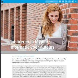 Publiceren in Myjour - Informatie voor auteurs
