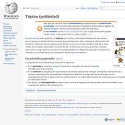 Tríptico (publicidad)