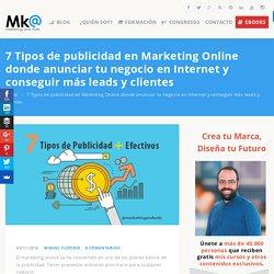 7 Tipos de publicidad en Marketing Online donde anunciar tu negocio