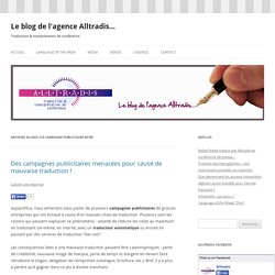 campagne publicitaire ratée Archives - Le blog de l'agence Alltradis...