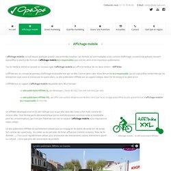 Affichage mobile - le vélo publicitaire Affi'bikeAgence Opé Spé