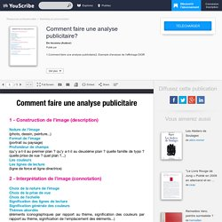 Comment faire une analyse publicitaire? - Inconnu - Marketing et communication