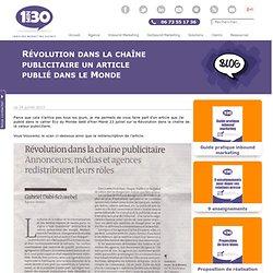 Révolution dans la chaîne publicitaire, publié dans le Monde