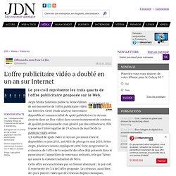 L'offre publicitaire vidéo a doublé en un an sur Internet