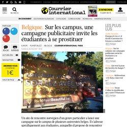 Belgique. Sur les campus, une campagne publicitaire invite les étudiantes à se prostituer
