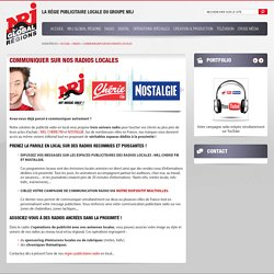 Régie publicitaire radio de vos messages sur NRJ, Chérie FM et Nostalgie en local