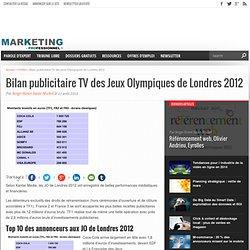 Bilan publicitaire TV des Jeux Olympiques de Londres 2012
