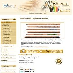 Crayon Publicitaire Economique - Eco'pap 0 x 0 cm Crayon Publicitaire - crayons Publicitaires