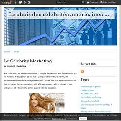 Le Celebrity Marketing - Le choix des célébrités américaines dans les stratégies publicitaires francophones