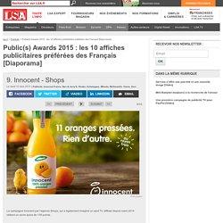 Diapo : Public(s) Awards 2015, les 10 affiches publicitaires préférées des Français