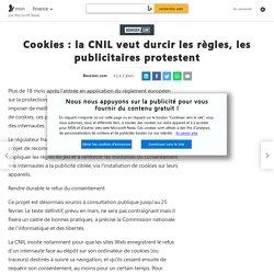 Cookies : la CNIL veut durcir les règles, les publicitaires protestent