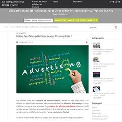 Réaliser des affiches publicitaires - Stamprint FR