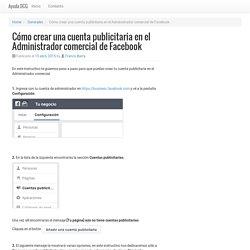 Cómo crear una cuenta publicitaria en el Administrador comercial de Facebook