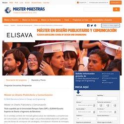 Máster en Diseño Publicitario y Comunicación, Barcelona, España 2015/2016