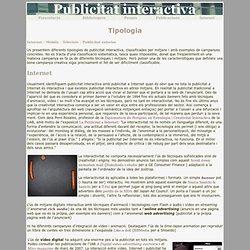Exposició publicitat interactiva. Tipologia