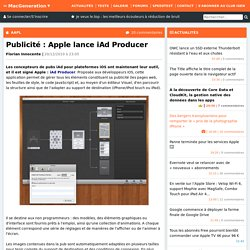Publicité : Apple lance iAd Producer