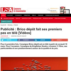 Publicité : Brico dépôt fait ses premiers...