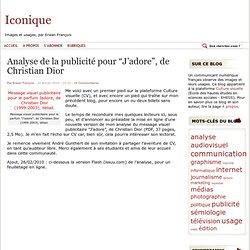 """Analyse de la publicité pour """"J'adore"""", de Christian Dior"""