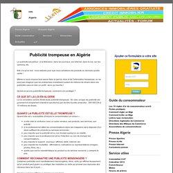 Publicité trompeuse - Guide consomateur Algérie