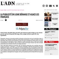 La publicité en ligne dérange et agace les français - ETUDE