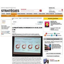 La publicité digitale en croissance de 6% en 2015, selon le SRI