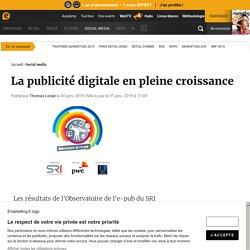 La publicité digitale en pleine croissance