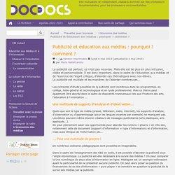 Doc pour docs - Publicité et éducation aux médias : pourquoi ? comment ? (2013)