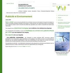 Publicité et Environnement