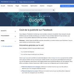 Pages d'aide pour les publicités Facebook