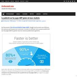 La publicité sur les pages AMP génère de bons résultats