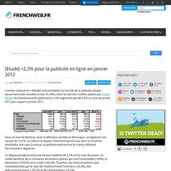 [Etude] +2,3% pour la publicité en ligne en janvier 2012