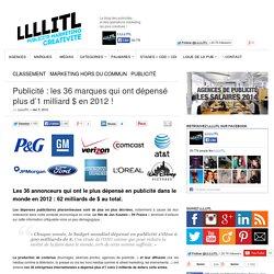 Publicité : les 36 marques qui ont dépensé plus d'1 milliard $ en 2012